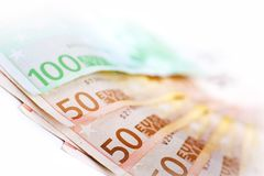 Europese Unie Munt Royalty-vrije Stock Afbeeldingen