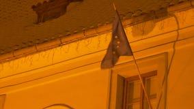 Europese Unie Sneeuwvlag stock videobeelden