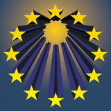 Europese Unie sterren Stock Foto's