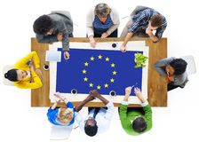 Europese Unie van de de Vlagnationaliteit van het Land de Cultuur Liberty Concept royalty-vrije stock fotografie