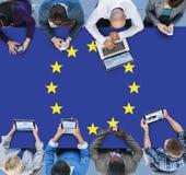 Europese Unie van de de Vlagnationaliteit van het Land de Cultuur Liberty Concept Royalty-vrije Stock Afbeeldingen