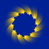 Europese Unie vlag Royalty-vrije Stock Afbeelding