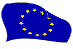 Europese Unie vlag Royalty-vrije Stock Foto