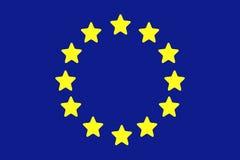 Europese Unie vlag Royalty-vrije Stock Afbeeldingen