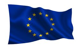 Europese Unie vlag, a-reeks van vlaggen van de wereld Stock Afbeeldingen