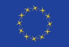 Europese Unie Vlagalternatief Stock Foto's