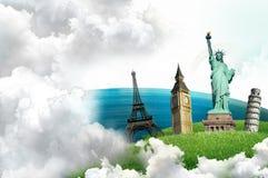 Europese vakantie - reizende achtergrond Royalty-vrije Stock Afbeelding