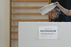 Europese verkiezing in Boekarest, Roemeni? royalty-vrije stock foto's