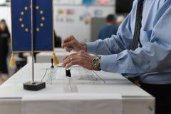 Europese verkiezing in Boekarest, Roemeni? royalty-vrije stock afbeelding