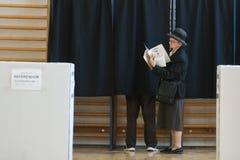 Europese verkiezing in Boekarest, Roemeni? royalty-vrije stock fotografie