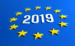 Europese verkiezingen 2019 vector illustratie