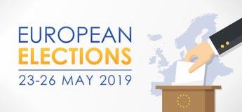 Europese verkiezingen 2019 royalty-vrije illustratie