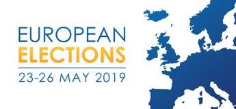 Europese verkiezingen 2019 stock illustratie