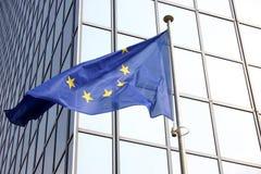 Europese vlag Brussel Stock Foto's