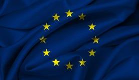 Europese Vlag UE Royalty-vrije Stock Afbeeldingen