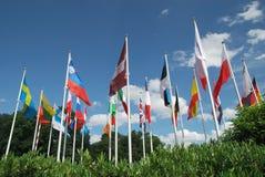 Europese vlaggen Stock Foto's