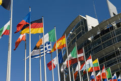 Europese Vlaggen Stock Afbeelding