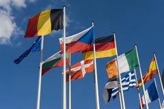 Europese Vlaggen Royalty-vrije Stock Afbeeldingen