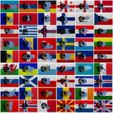 Europese voetbal Royalty-vrije Stock Afbeelding