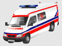 Europese ziekenwagen Royalty-vrije Stock Afbeeldingen