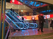 Europeu do shopping em Moscou foto de stock