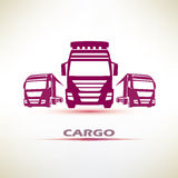 Europian trucks symbol set Royalty Free Stock Image