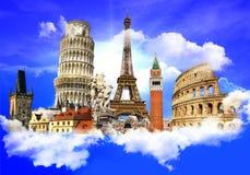 Europäische Grenzsteine Lizenzfreies Stockfoto