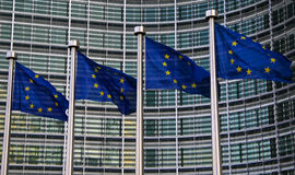 Europäische Markierungsfahnen Lizenzfreie Stockfotografie