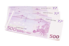 Europäische Währung des Eurobanknotengeldes einschließlich 500 Euros Lizenzfreie Stockbilder