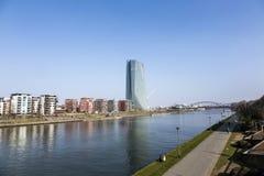 Europäische Zentralbank-Gebäude in Frankfurt am Main Stockbild