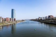 Europäische Zentralbank-Gebäude in Frankfurt am Main Lizenzfreie Stockbilder