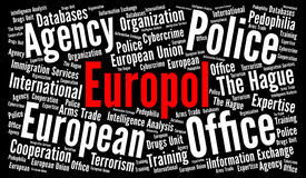 Europol word cloud illustration Royalty Free Stock Images