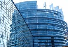 EuropéParlaiment byggnad Royaltyfria Bilder