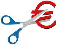 Europreissenkung lizenzfreie abbildung