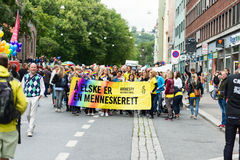 Europride 2014 Amnesty International Royalty Free Stock Photos