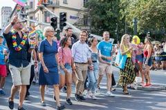 EuroPride 2018 com Éstocolmo Pride Parade imagem de stock royalty free
