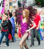 Europride 2014 Dame in carnaval kleding Royalty-vrije Stock Foto's