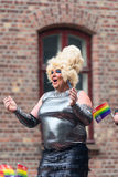 Europride 2014 Dancing lady Royalty Free Stock Images