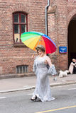 Europride 2014 Lady with ambrela Stock Image