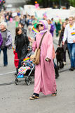 Europride 2014 Lady in pink dress Royalty Free Stock Image