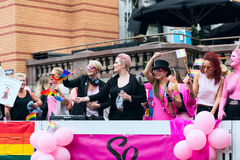 Europride 2014 Ladys on pride parade in Oslo Royalty Free Stock Images
