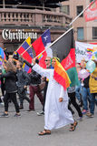 Europride 2014 Man with Sirian flag on parade Royalty Free Stock Photo