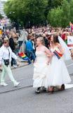 Europride 2014 Niedawno poślubia pary na paradzie Obrazy Royalty Free