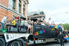 Europride parada w Oslo Bergen obrazy stock
