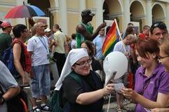 EuroPride Parade. Participants in the EuroPride Parade Royalty Free Stock Image