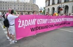 EuroPride Parade. Participants in the EuroPride Parade Royalty Free Stock Photos