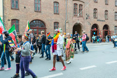 Europride parade in Oslo group of folks Royalty Free Stock Photos