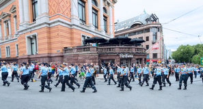Europride parade in Oslo police force Stock Photography