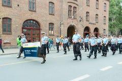 Europride parade in Oslo police politi Stock Image