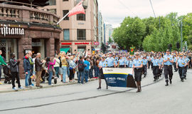 Europride parade in Oslo politi for alle Stock Images